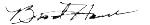 Brad Hance Signature